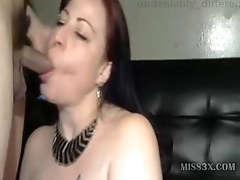 Mature deepthroat blowjob