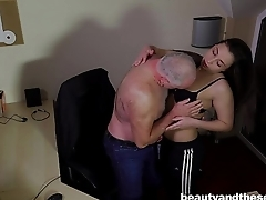 Teen Carla gets fucked plus facialied in the office