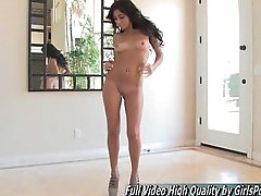 Ariane II solo blue hot brunette dance