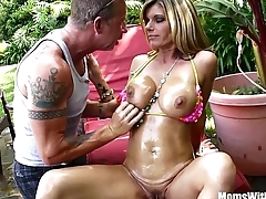 Oiled-Up Photoshoot And Creampie Round MILF Kristal Summers