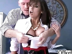 Busty Sexy Worker Girl (reena sky) Win Hard Style Banged Fro Office clip-27