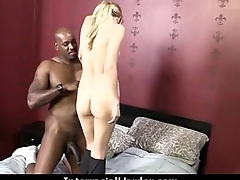 Heavy black schlong in white cunt 13