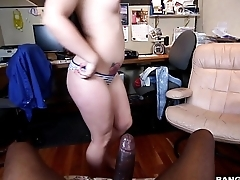 BANGBROS - Monster horseshit makes go off at a tangent pussy cream