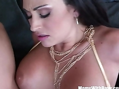 Mature Claudia Valentine Gags Over Pole Dancing Teacher