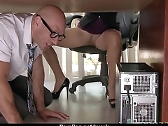 Big-tit latina boss fucks employee'_s hard-dick in office 12