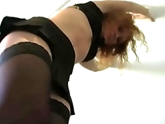 Femdom Redhair Amateur Girl in Boots dominate husband at home