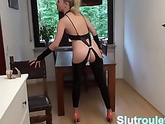 German MILF dominated and anal