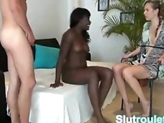 Cuckold German gf tied up and watching bf pound inky