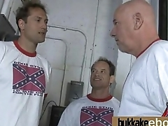 Interracial groups sex with black chick with an increment of white dudes 17