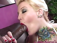 Candy Monroe'_s hubby cleans their way jizz unseeable face