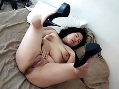25 YEAR Ancient CHINESE WIFE SPREADING LEG AND PUSSY