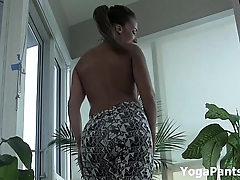 My ass in yoga pants!