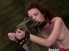 Bdsm slave gets railed
