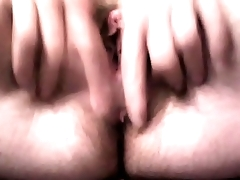 Transgender masturbate with dildo vagina and anal