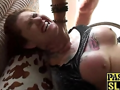 Tattooed Tallulah gets her tight anus nailed roughly