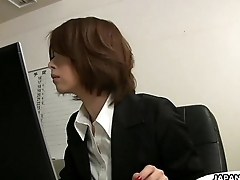 Asian office lady Tsubaki face sitting the milquetoast dude