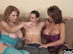 Charlee Chase Double Teams on Load of shit for MILF 3Way