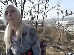 PublicPickups - Sexy Slattern Fucks In Public For Euros 02