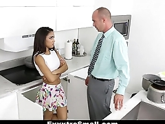 ExxxtraSmall - Lovely Little Spinner Pounded By Say no to Step-Dad