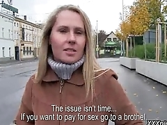 Public Pickups - Titillating Euro Girl Fucks In Public For Money 23