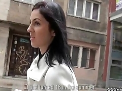 Public Pickups - Sexy Euro Girl Fucks In Public For Money 21