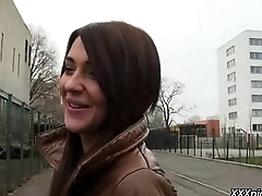Public Pickups - Sexy Euro Girl Fucks In Public For Money 25