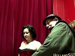 Elderly dutch hooker sucks