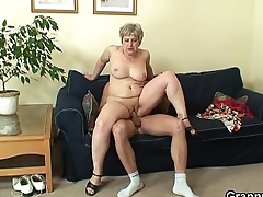 60 years old granny swallows big learn of