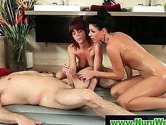 Nuru Slippery Rub-down Coupled with Felicitous Ending Sex Video 20