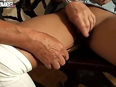 FUN MOVIES Amateur German Teen blows grandpa