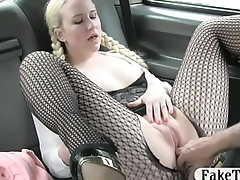 Comme ci babe pounded by London cab driver