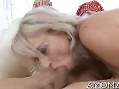 Sexy mom is fingered together with screwed