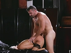 Horny pretty good in stockings has her pussy nailed hard
