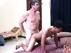 Daddy loves fucking asian twink Wahns