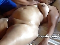 Desi wife Suman getting minimal massage hubby filming [Part 3]