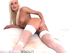 Blonde angel will deliver up you speechless