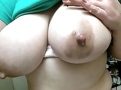 Milking my big tits