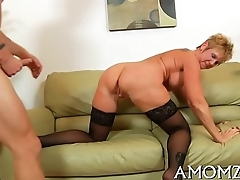 Sultry mom drilled by a sexy man