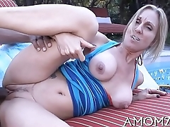 Enchanting mature begs for greater amount sex