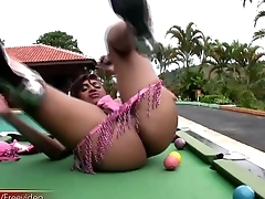 FULL video of tranny inserting pool ball in mean anal hole