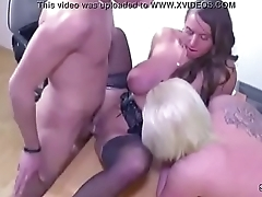 Female Actresses Agent Fuck with Young German Teen Couple