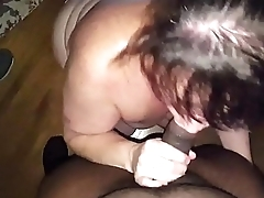 MILF Cheater Sucking Some Black Cock the Side