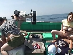 Asian sluts acquiring fucked on a fishing boat