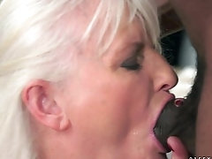 Elderly Granny on big black cock