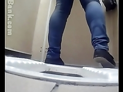 Butts on hiddencam squat toilet