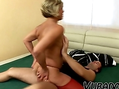 Hot sex with lovable old woman!