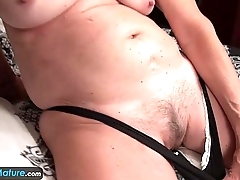 EuropeMature Old granny Cindy gone appendage horny