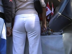 woman with white pants